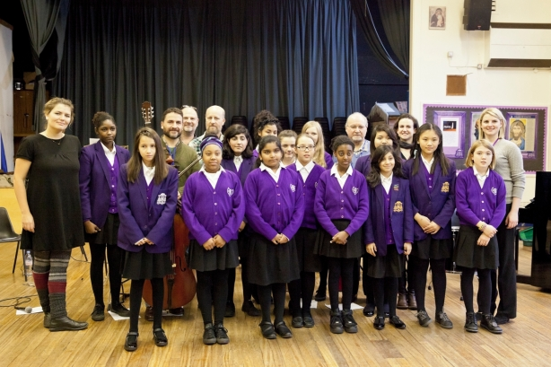 Pupils from Sion Manning School with Musicians from the RPO